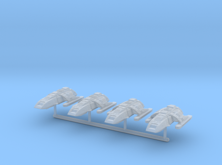 1/1000 Run-Around Shuttle 4pk 3d printed