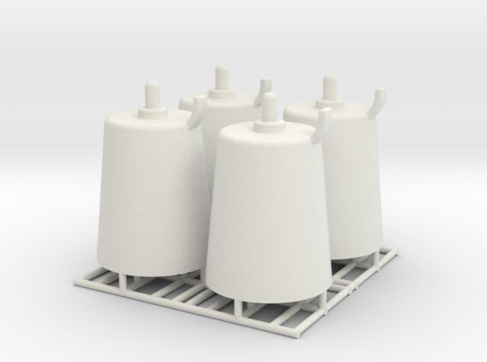 Pedestal roller - 1:50 - 4X 3d printed