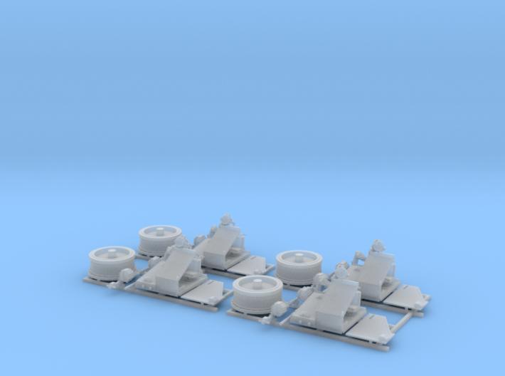 1/96 Twin 20mm Oerlikon MKV Mount 25º x4 3d printed 1/96 Twin 20mm Oerlikon MKV Mount 25º x4
