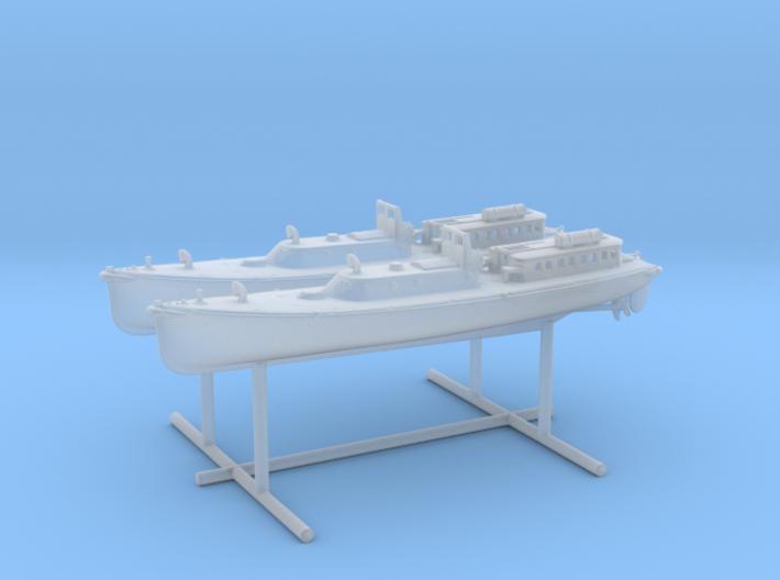 1/400 IJN 17m Admiral (pinnace) Boat Set 3d printed