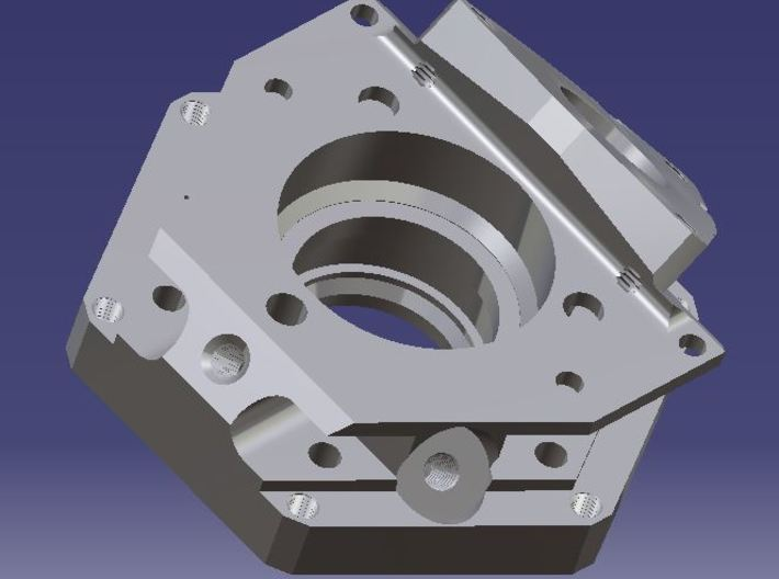 1:1 Apollo RCS Injector Housing 3d printed