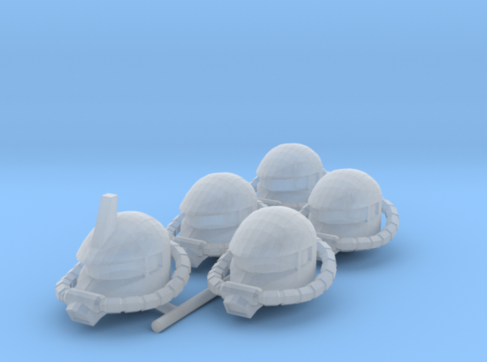 Zaku Heads for Space Marines 3d printed