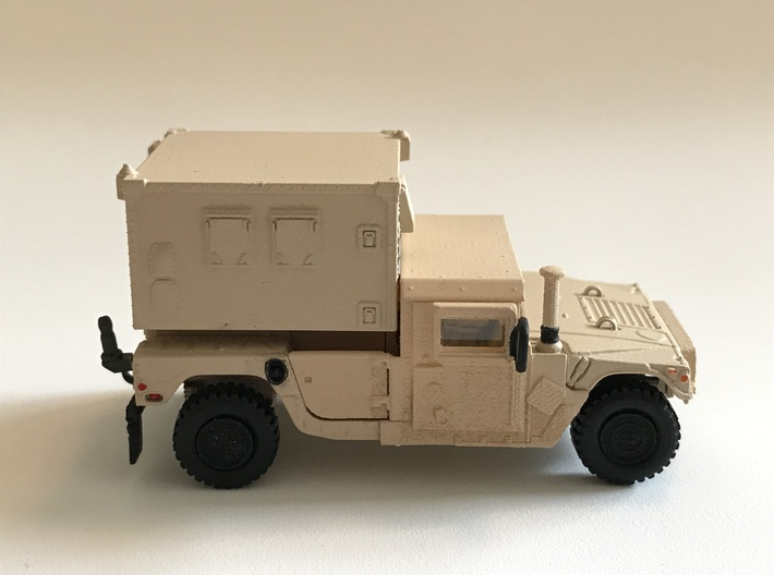 M1152 Humvee Armor 3d printed Completed model with S250 shelter