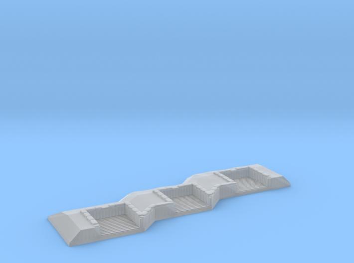 1/1000 3 Gun Emplacement Left 3d printed