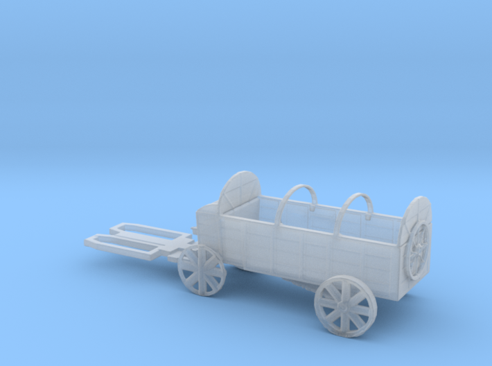 TT Scale Haywagon 3d printed This is a render not a picture