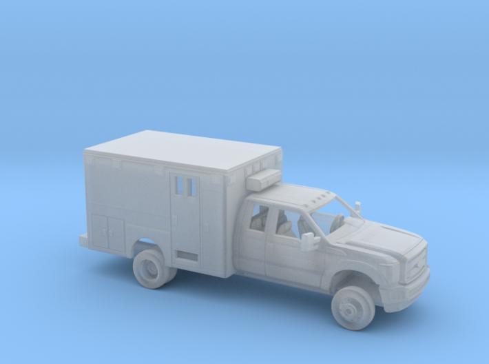 1/148 2011-16 Ford F Series Ext Cab Ambulance Kit 3d printed