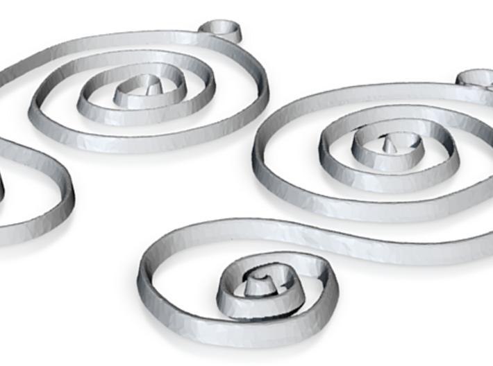 :Faery Spiral: Earrings 3d printed