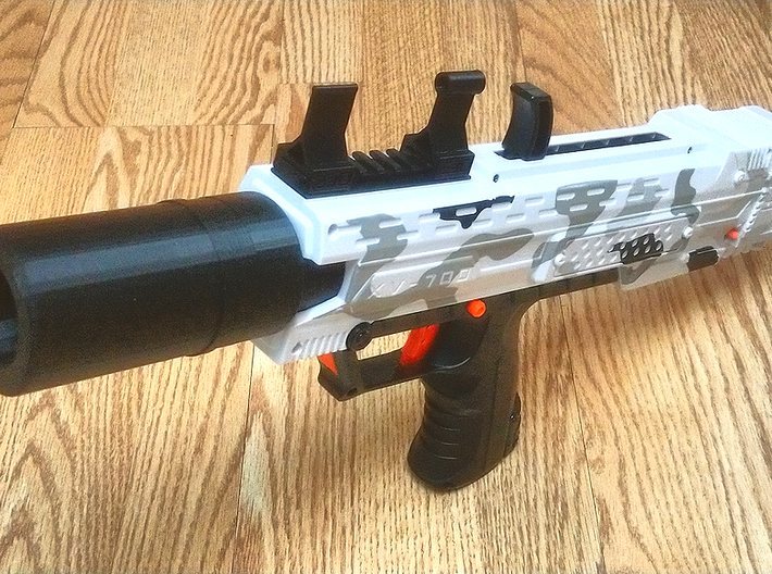 Raised Iron Sights for Nerf Rival Rail 3d printed