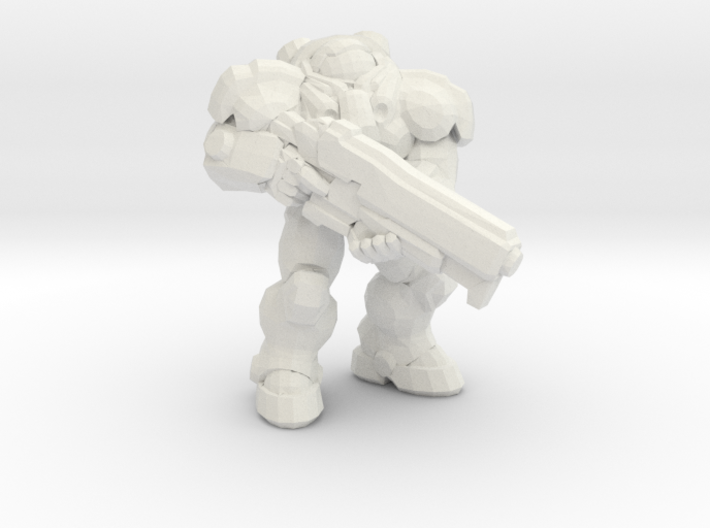 Starcraft Marine rifle down 1/60 miniature games 3d printed