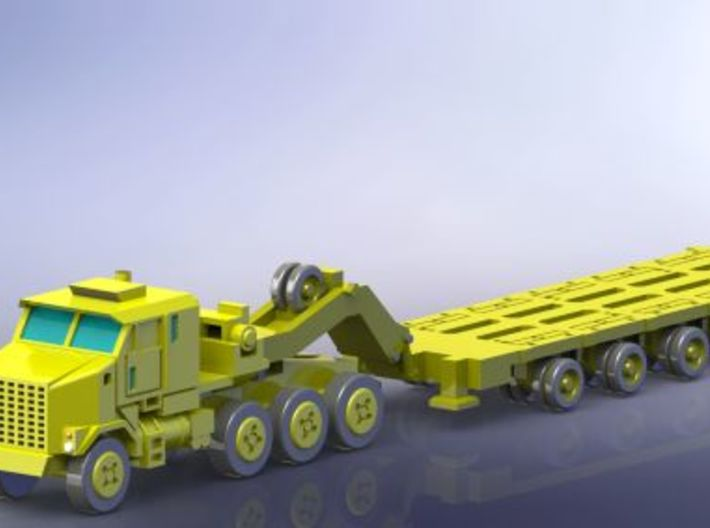 HETS M1070 / M1000 Truck and Trailer 1/285 6mm 3d printed Add a caption...