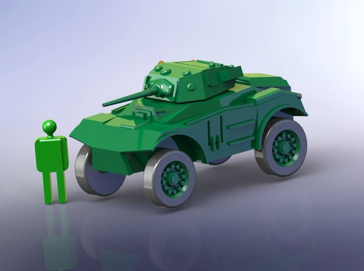 British Coventry Amoured Car Mk I 1/285 6mm 3d printed