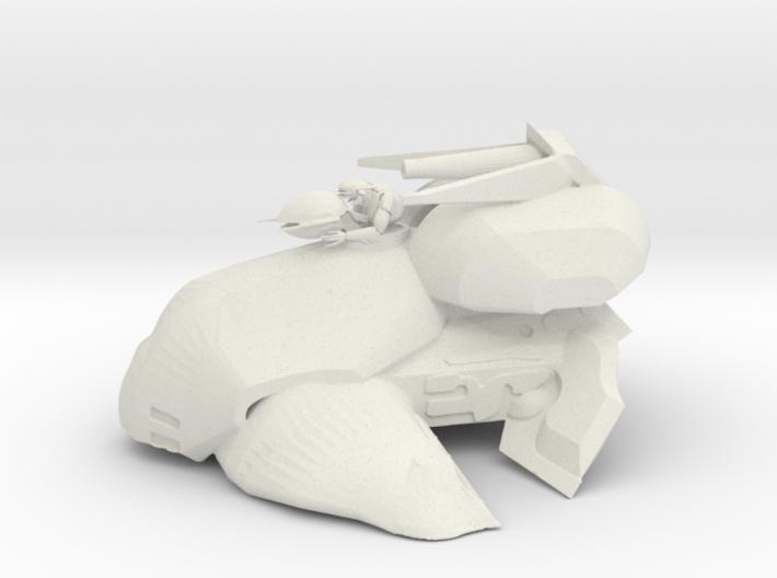Alien Tank with Gunner 3d printed