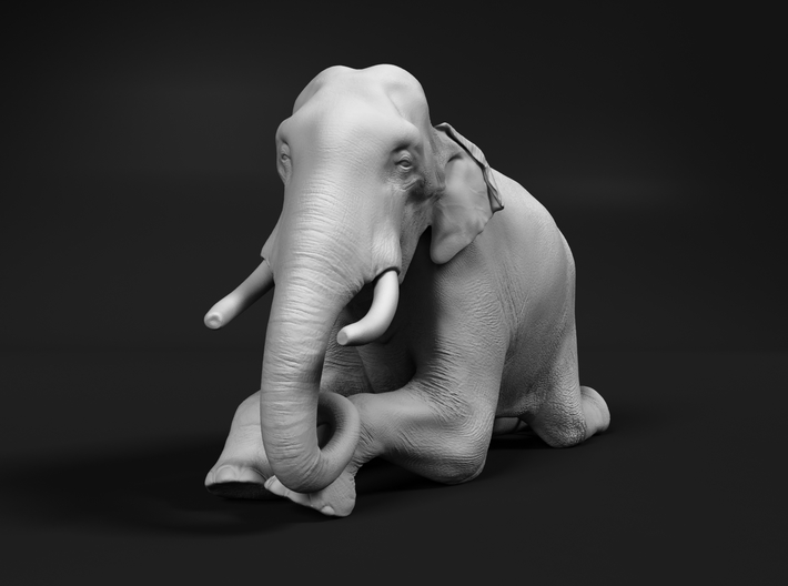 Indian Elephant 1:20 Kneeling Male 3d printed
