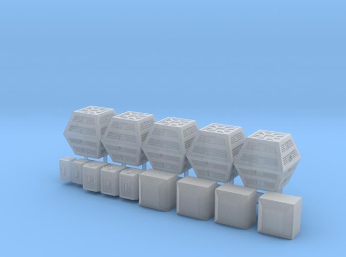 SPACE 2999 1/72 BOXES DIORAMA SET 3d printed