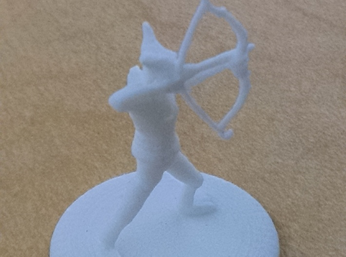 D&D Wilden Seeker with Bow and Arrow Mini 3d printed 1.5 inches tall, unpainted.