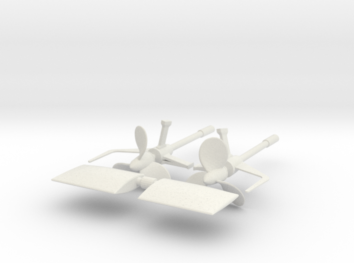 1/48 DKM U Boot VII C Shaft Housing and Props SET 3d printed
