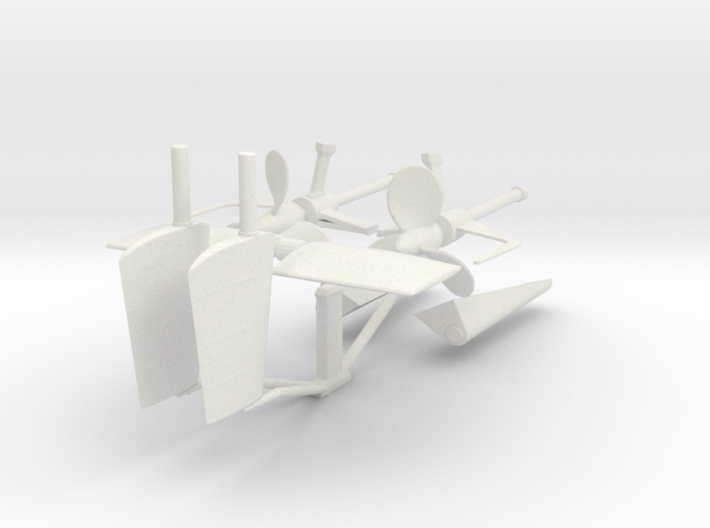 1/35 DKM U-Boot VII/C Shaft Housing and Props KIT 3d printed