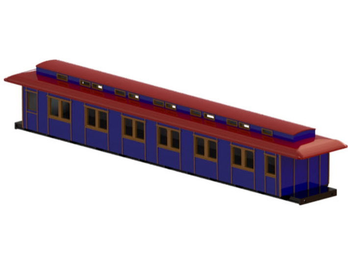 Bo3 - Swedish passenger wagon 3d printed CAD-model