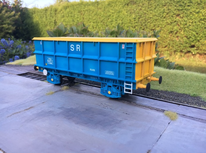 7mm POA Scrap wagon Empty 3d printed Photo shows a completed wagon with additional parts added.