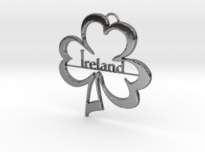 Ireland Clover Pendant 3d printed