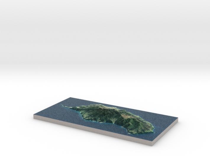 Madeira Island Terrain Map 3d printed