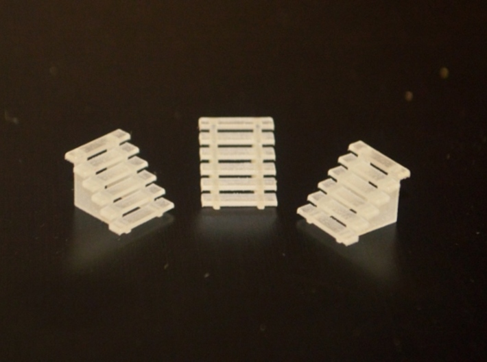 N-Scale Box & Crate Factory Details 3d printed Box & Crate Factory - 6 Ft. Stairs (Available Seperately)