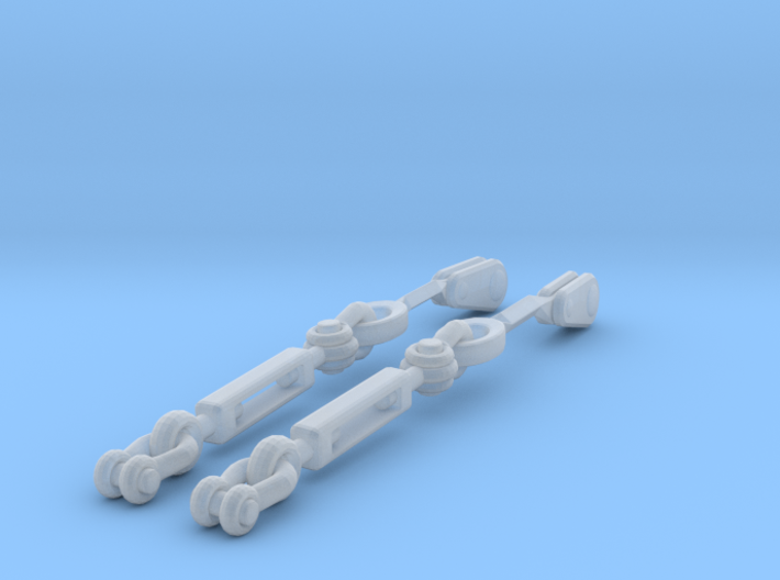1/35 DKM UBoot Turnbuckles SET x2 3d printed