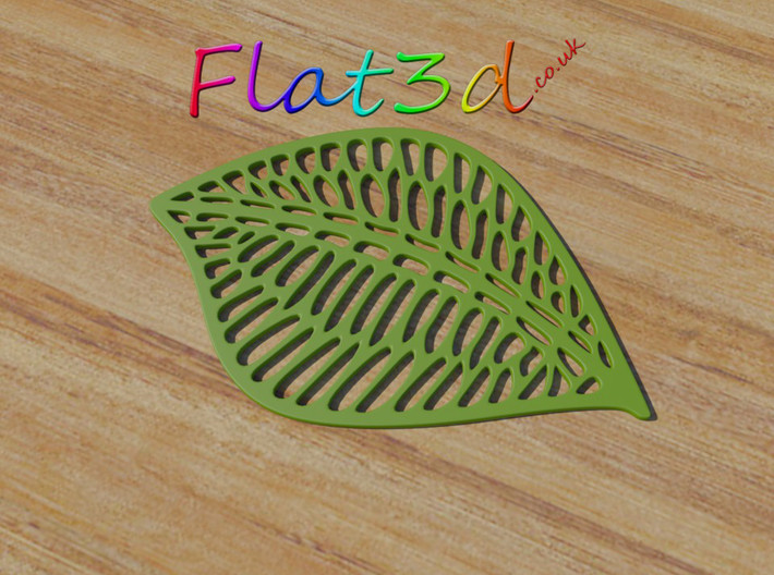 Leaf Drink Coaster 3d printed Leaf Shaped Coaster