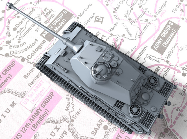 1/144 German VK 45.03 (H) Heavy Tank 3d printed 3d render showing product parts
