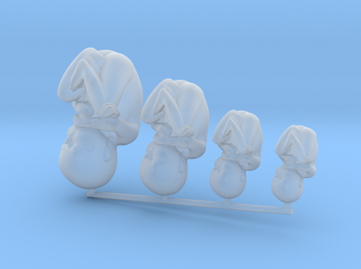 Tiny Human Babies Growing in Frosted Detail 3d printed
