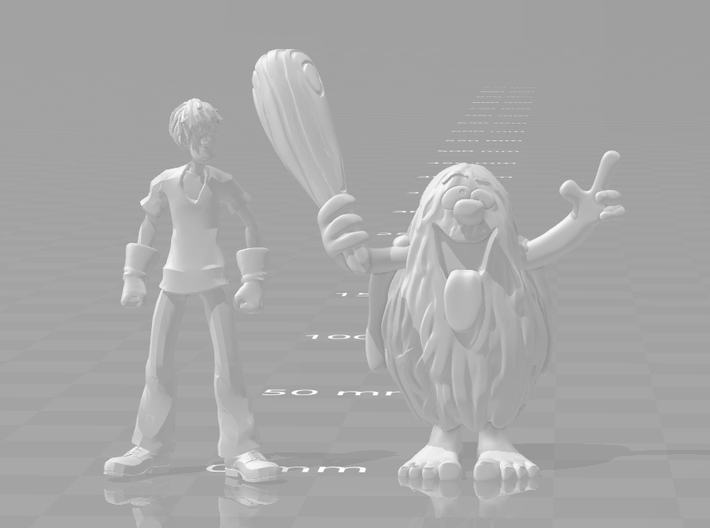 Captain Caveman 1/60 miniature for games and rpg 3d printed