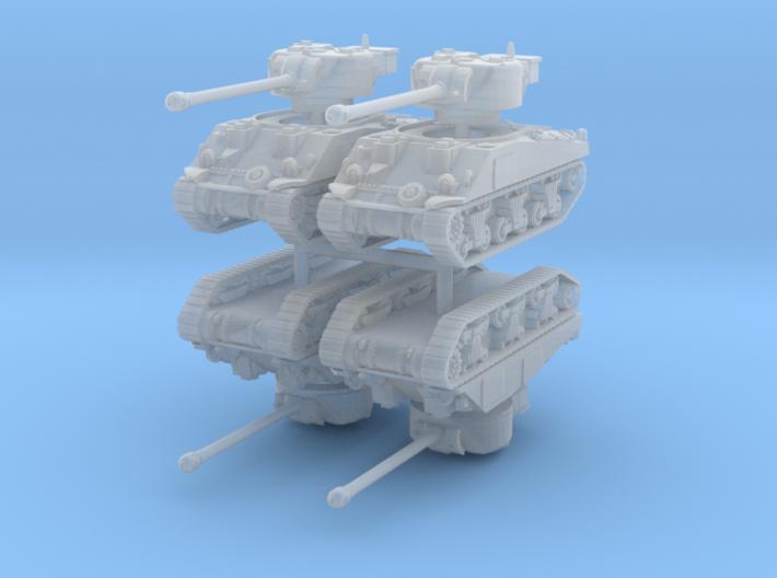 Sherman VC Firefly (x4) 1/200 3d printed
