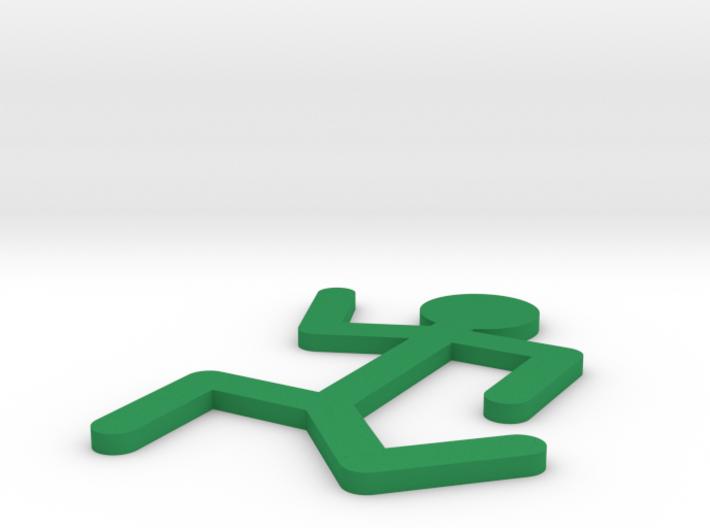 [1DAY_1CAD] STICKMAN_RUNNIG 3d printed