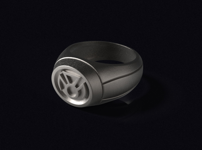 Phantasm Lantern Ring 3d printed 3D render of the ring in Polished Bronzed-Silver Steel