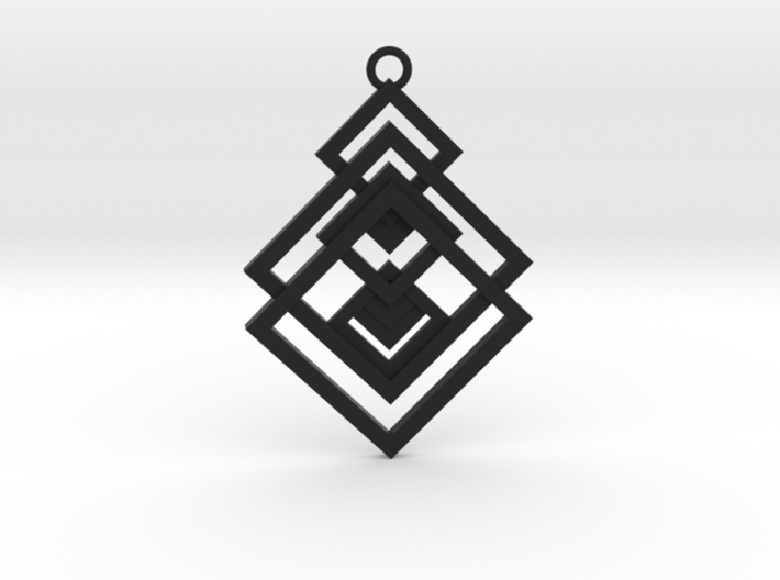 Geometrical pendant no.17 3d printed