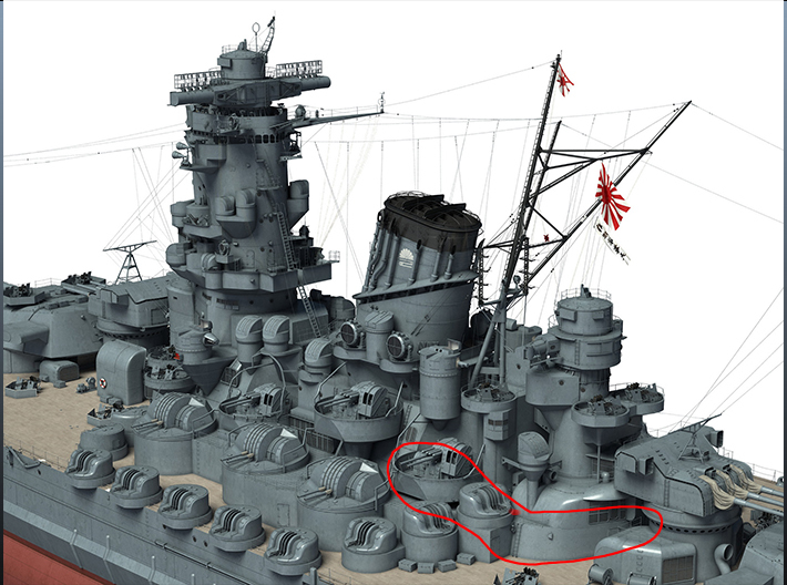 1/144 IJN Yamato After Tower Structure Part 1 3d printed