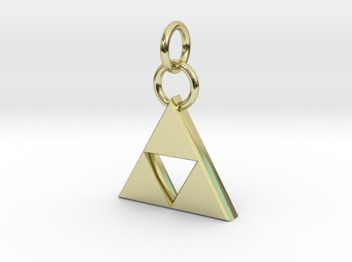 ZD Triforce Charm 3d printed