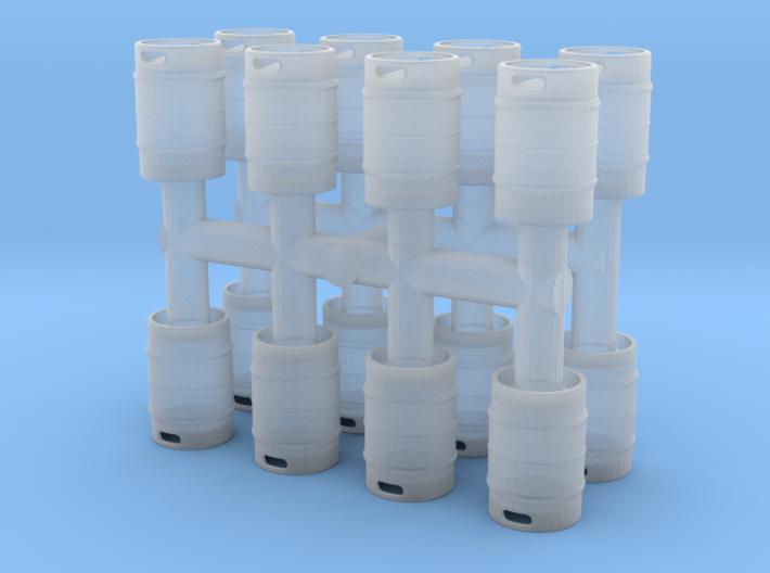 Beer Keg (16 pieces) 1/56 3d printed