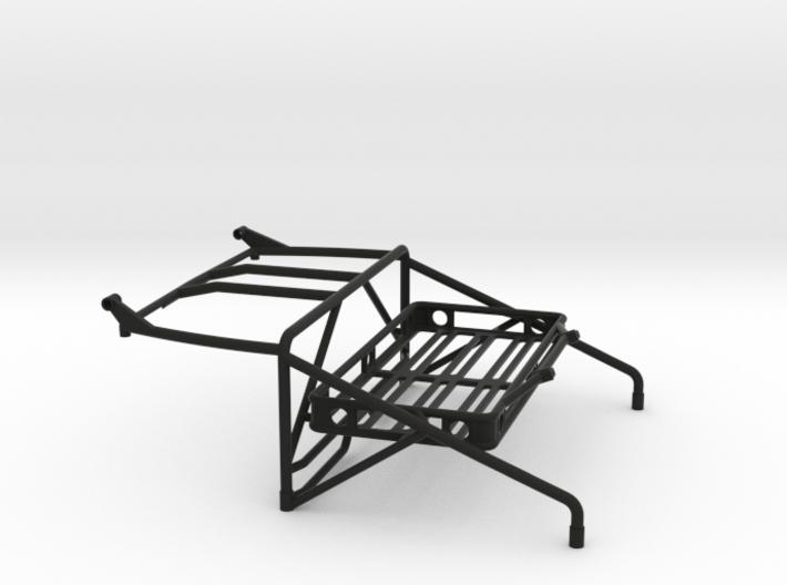 JK Roll Cage V4 w/ Cargo Rack & Light Bar Mount 3d printed