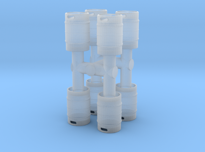 Beer Keg (8 pieces) 1/48 3d printed
