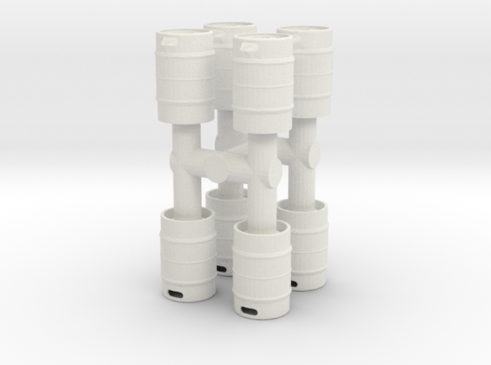 Beer Keg (8 pieces) 1/24 3d printed