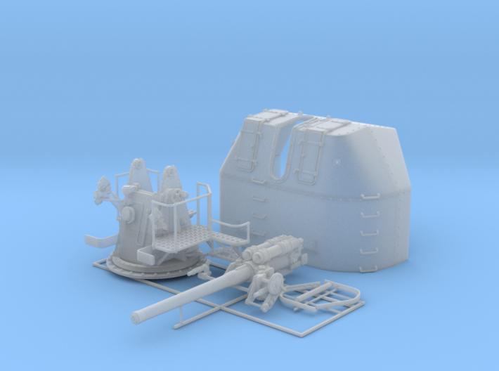 "1/56 RN 4"" MKV P Class Gun A/Y Mount Closed Ports 3d printed 1/56 RN 4"" MKV P Class Gun A/Y Mount Closed Ports"
