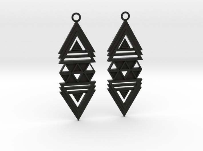 Geometrical earrings no.19 3d printed