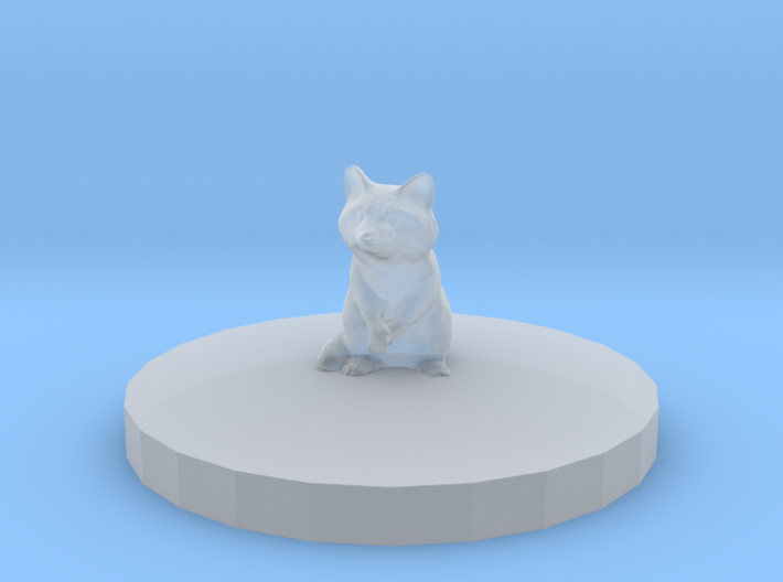 Raccoon Miniature (28mm Scale) with Base Plate 3d printed