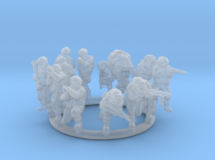 1:200 Soldiers Combat 1 Group 1 - 13 3d printed