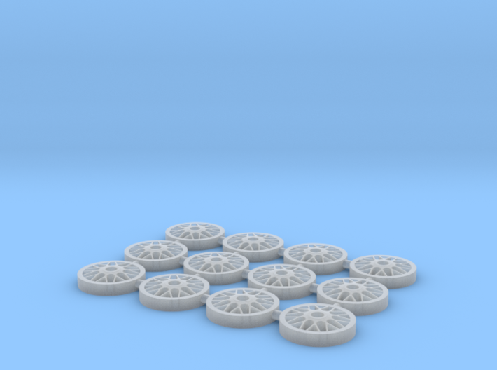 BBS Wheel Face for Metal Barrel 1:64 Wheels 3d printed