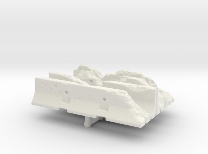 Damaged Jersey barrier (x4) 1/144 3d printed