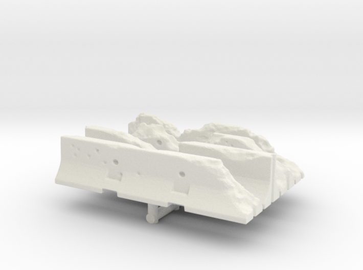 Damaged Jersey barrier (x4) 1/160 3d printed