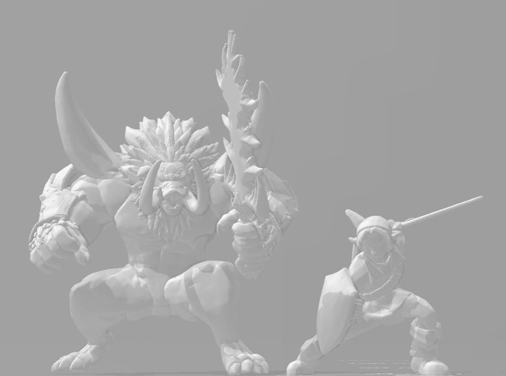 Ganon Dark Beast 1/60 miniature for games and rpg 3d printed