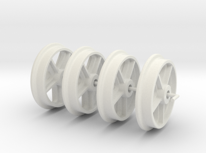 RSQW1 Rhosydd Slate Quarry 5 Spoke Wheels (SM32) 3d printed